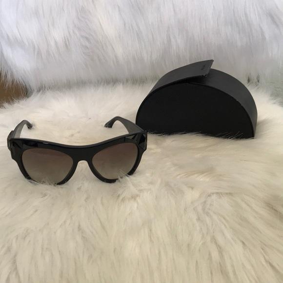 215934ea3fd2 Prada Accessories | Cat Eye Black Stone Sunglasses | Poshmark